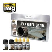 JET ENGINES COLORS AND WEATHERING SET<br>A.MIG-7445